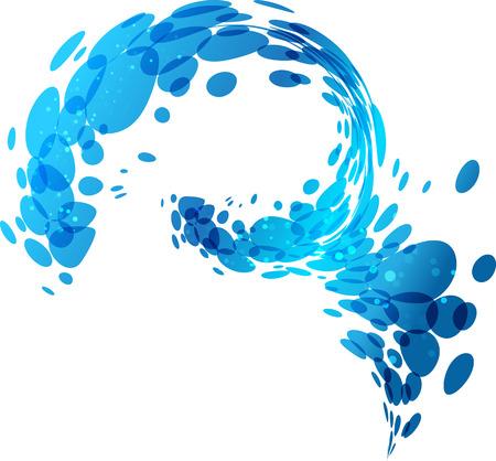 Aqua background, water splash, design element illustration Illustration