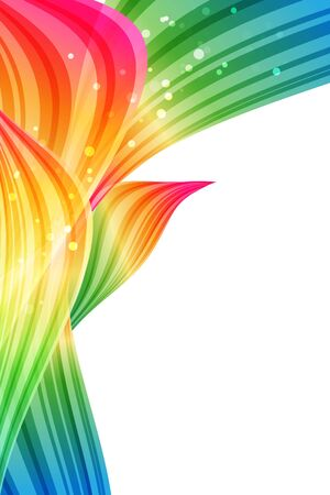 blue border: Abstract background, multicolored design, rainbow petals, bright template Stock Photo