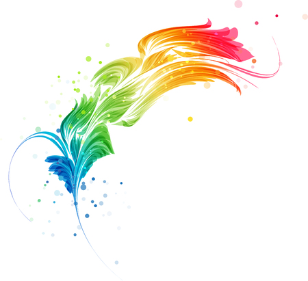 Abstract multicolored element, stylized design object on a white background Illustration
