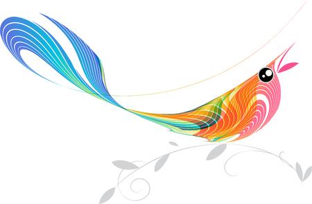 creative beauty: Singing bird illustration
