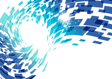 abstract technology: Technology background, blue geometry design Illustration