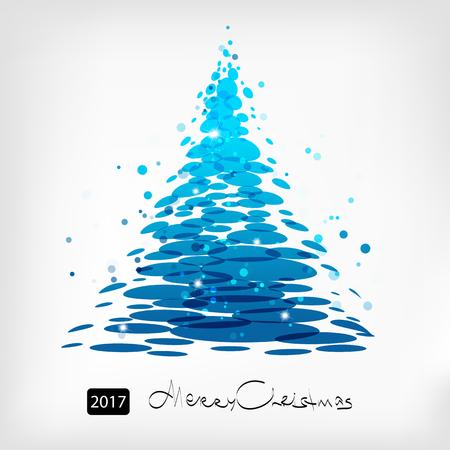 christmas blue: Blue Christmas tree art, Christmas card design