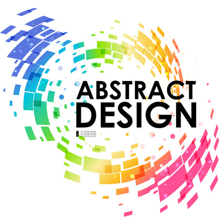 Abstract geometric colorful circular background, design element, frame background