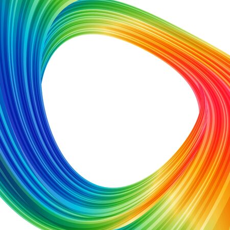 Abstract background with colored circle, design frame rounded, bright template Stock Photo