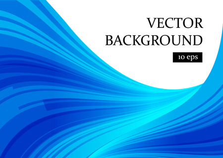 Abstract blue and white background, curve smooth shapes, vector illustration