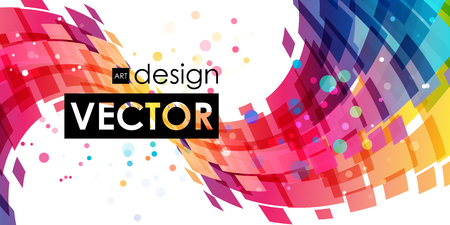 bright: Multicolor abstract bright background Illustration