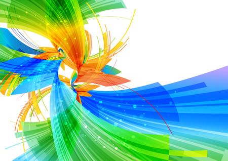 overflow: Abstract background, multicolored layout on white background Stock Photo