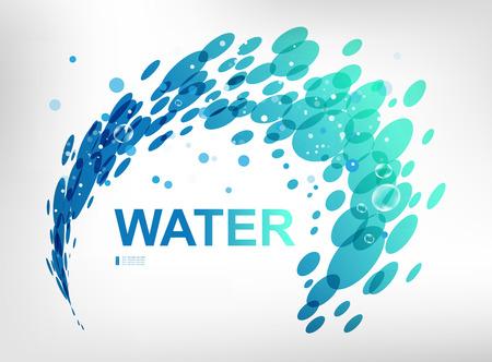 water spray: Sign water spray, design element on white background
