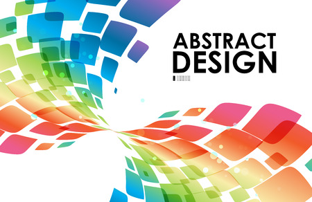 curve: Colorful curve abstraction on white background Illustration