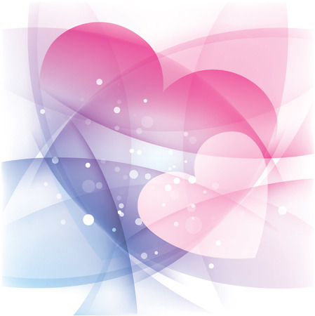 Two hearts, love background