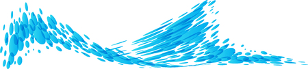 Splashing water isolated on white background