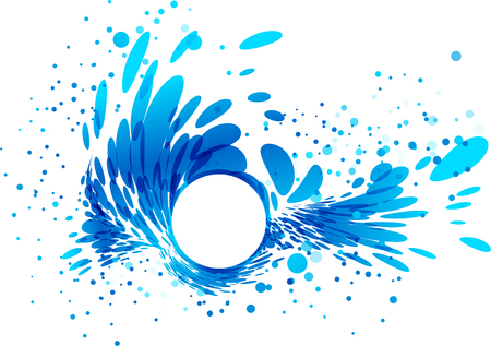 Splash wave, white rounded border