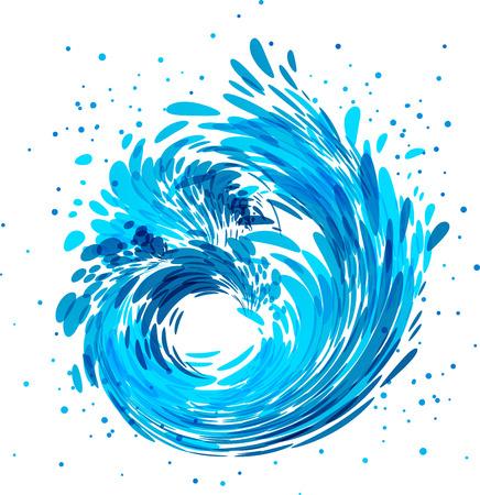 液面流れの自然曲線または波線記号