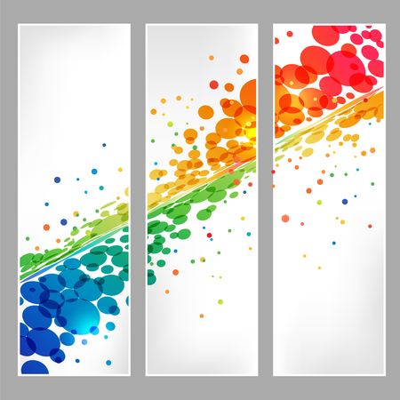 many colored: Circle design, colorful ellipse elements with effect on white background