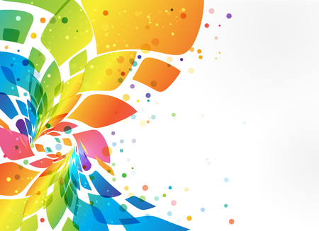 Multicolored frame, abstract element on white background