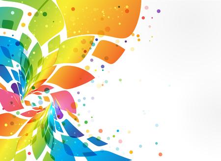 Cadre multicolore, élément abstrait sur fond blanc Vecteurs