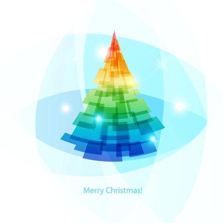 Bright Christmas tree vector illustration Ilustracja