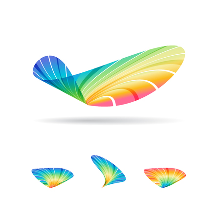 Colorful abstract symbol modern icon.
