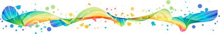 Abstract horizontal splash, modern multicolored ornament, vector design.