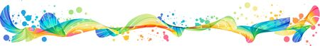 Abstract horizontal splash, modern multicolored ornament, vector design Zdjęcie Seryjne