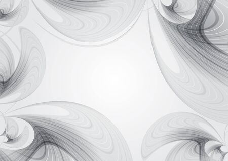 Grey template, abstract background with curved lines elements Stock Photo