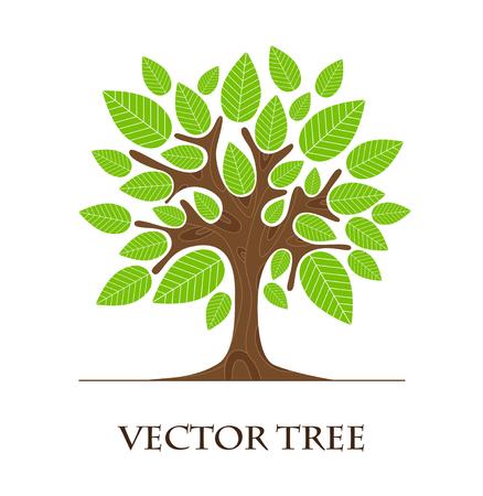 Tree logo art isolated on white background.