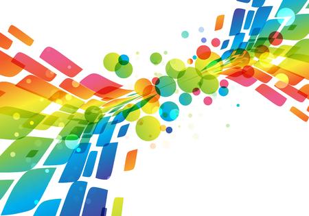 Rainbow abstract background, vivid splash on white Ilustracja