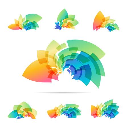 Set abstract icon isolated on white background Ilustracja