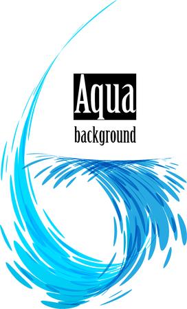 Splash water element isolated on white background Ilustracja