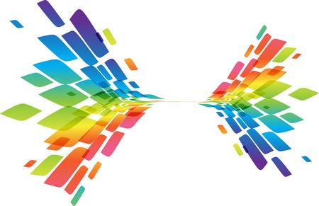 Multicolored geometric element isolated on white background