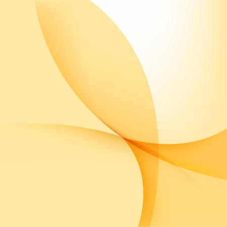 White and yellow background, curve orange elements Ilustracja