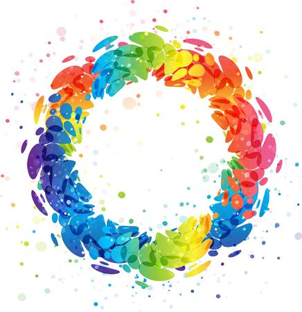 Colorful splashing wreath