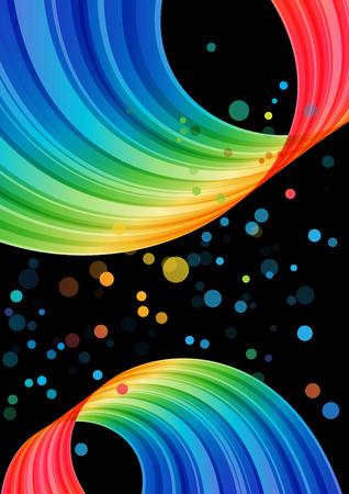 Multicolored curve element