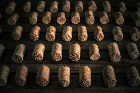 corkwood: set of wine plugs correctly lying on black