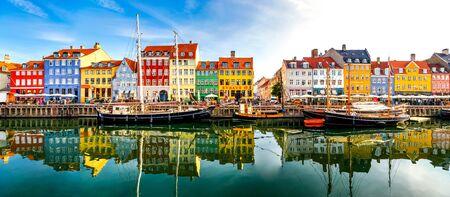 Nyhaven, Copenhagen, Denmark Banco de Imagens