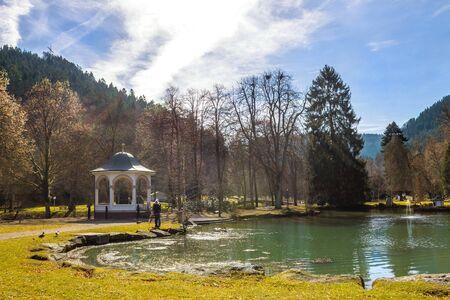 Public Garden in Bad Liebenzell, Germany
