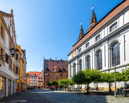 Sankt Gumbertus church and old town, Ansbach, Bavaria, Germany