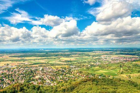 Panorama View over Bensheim, Germany