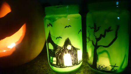 halloween lantern: Halloween lantern handmade