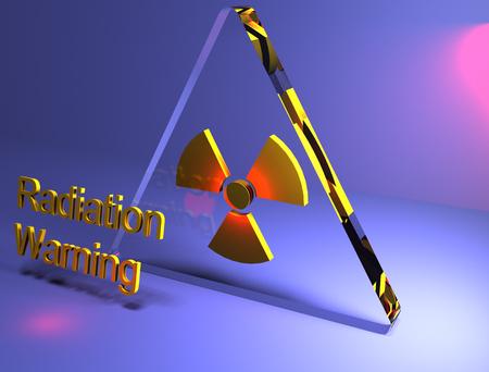 radiacion: 3D de advertencia de radiaci�n