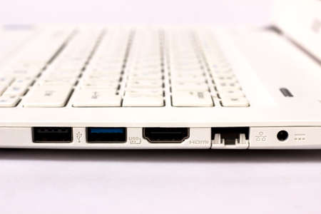 Laptop USB, HDMI and Network Interfaces