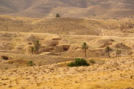 matmata: Dwelling Berbers troglodytes around Matmata, Tunisia, Africa Stock Photo