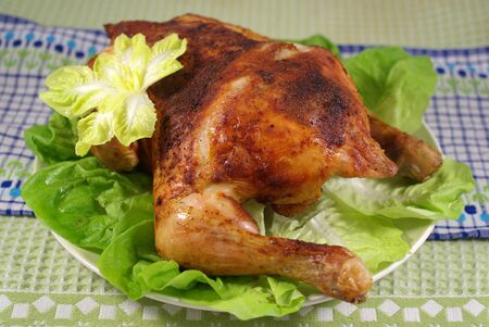 Grilled chicken with vegetables Stock Photo - 16777542