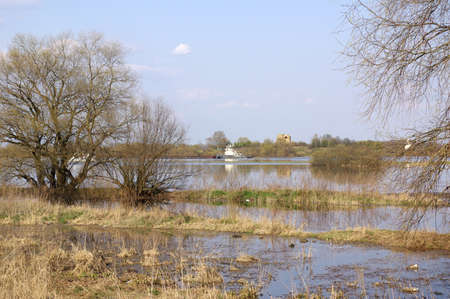 volkhov: Spring view of Volkhov River, Russia