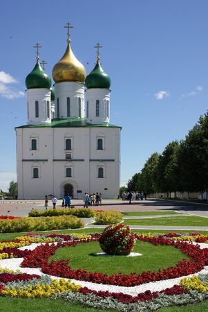 Assumption Cathedral in Kolomna, Russia in summer day