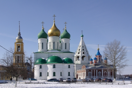 View of historical center of Kolomna city near Moscow, Russia