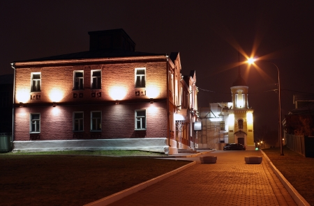 Russia, Kolomna, night view of the town Stock Photo