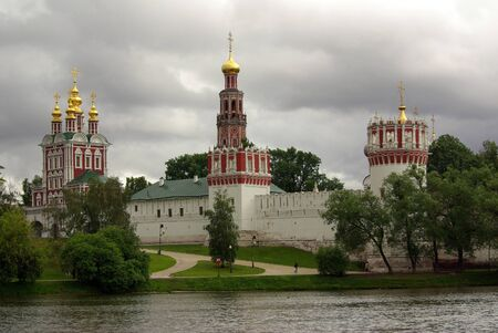 Novodevichy convent in the summer (view from the lake)