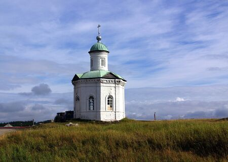 Chapel on Solovki in summer day