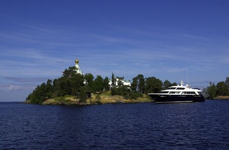 The monastery on Valaam Island in Karelia photo